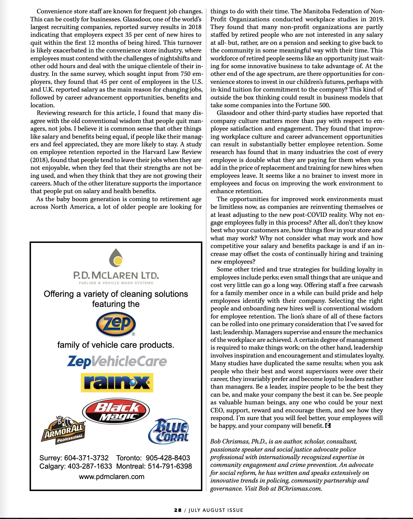 2020-07-26 pg 1 Convenience & Carwash Canada Employee retention copy